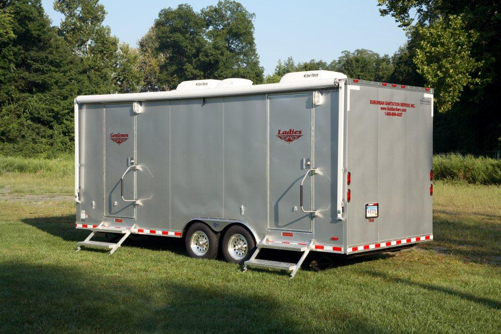 Suburban Sanitation Service's 20 Foot Luxury Trailer