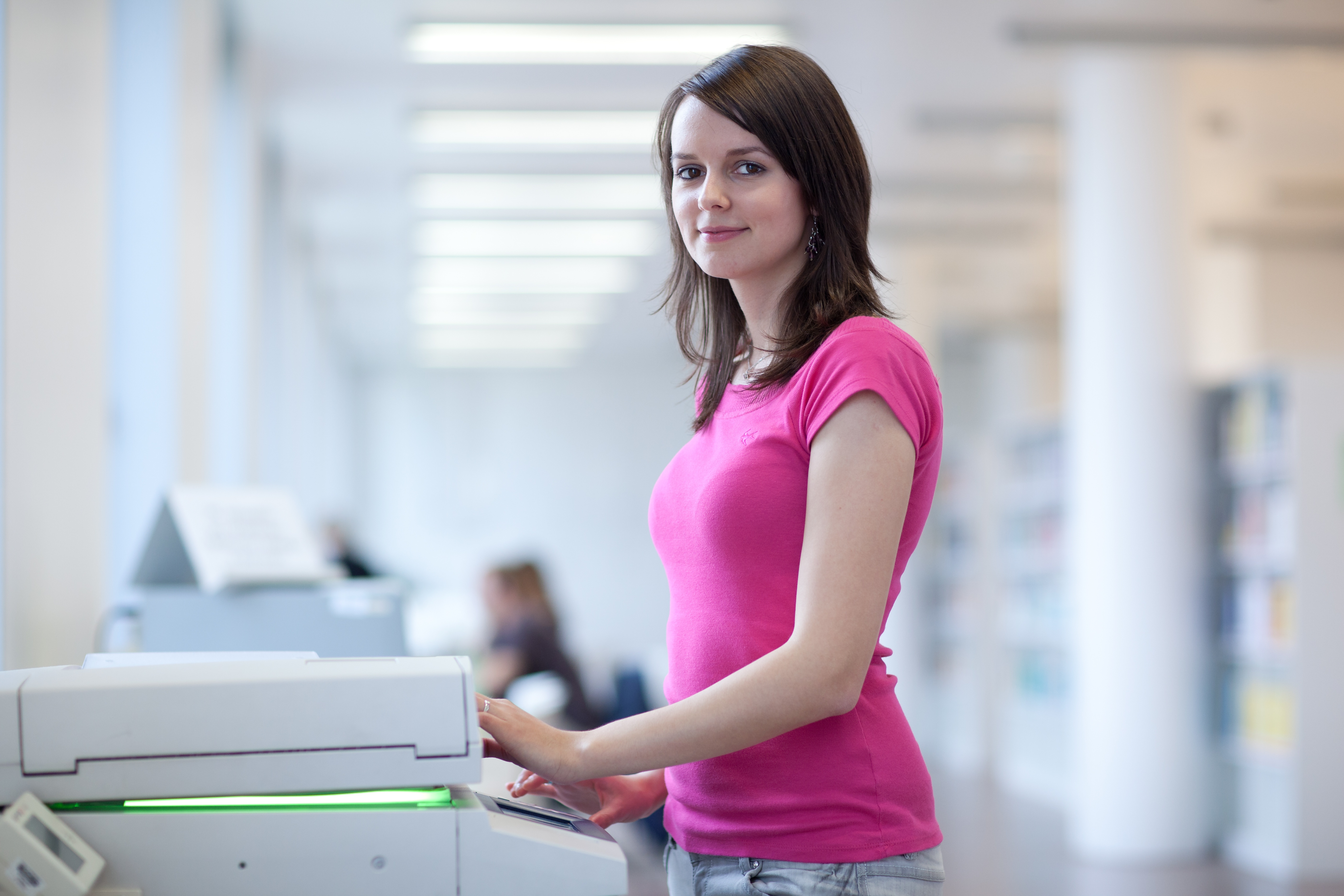 Pages per minute for a printer or office copier