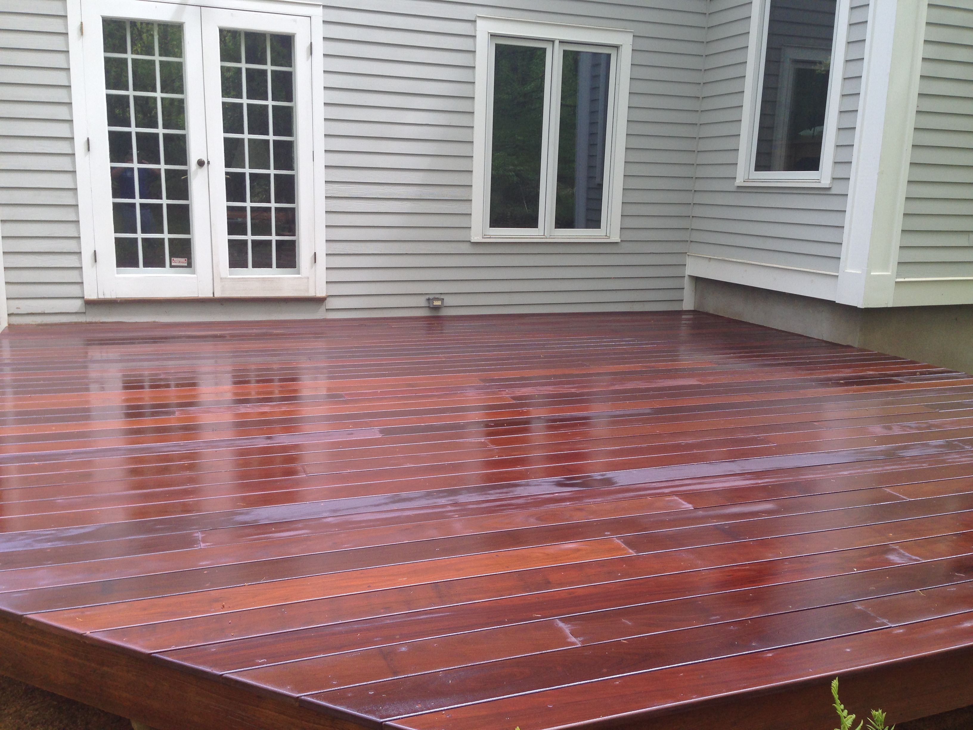 New Ipe Deck Installation