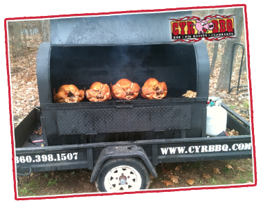 Thanksgiving Turkeys Catered by Cyr BBQ, Smoked or Fried