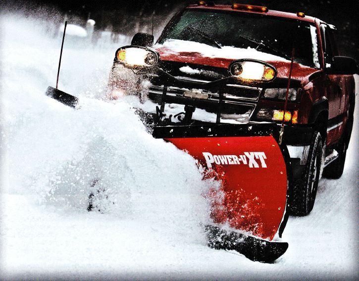 snow plowing in Plainville, CT
